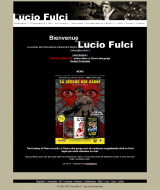 première version du site luciofulci.fr