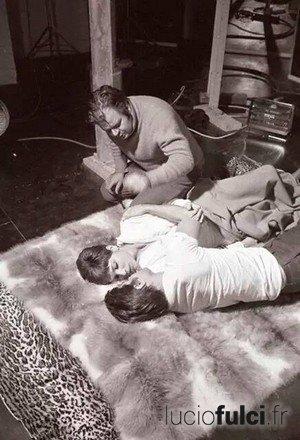 Lucio Fulci sur le plateau de Perversion Story